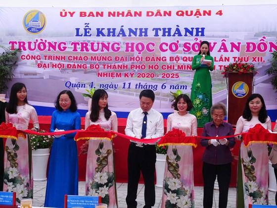 TPHCM: Khánh thành 2 công trình trường học ở quận 4 chào mừng Đại hội Đảng bộ các cấp ảnh 1