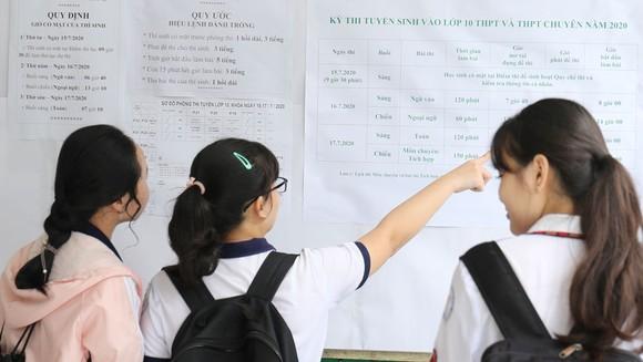 TPHCM: Hơn 82.000 thí sinh tham dự kỳ thi tuyển sinh lớp 10 năm học 2020-2021 ảnh 2