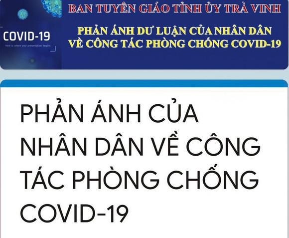 Trà Vinh: Người dân đóng góp ý kiến về phòng chống dịch Covid-19 bằng hình thức trực tuyến