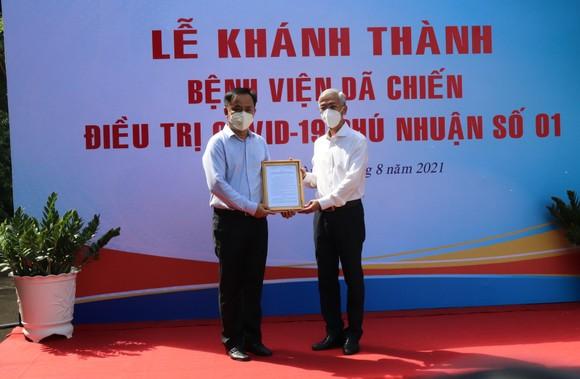 Trường THPT Phú Nhuận thành bệnh viện điều trị F0 ảnh 1