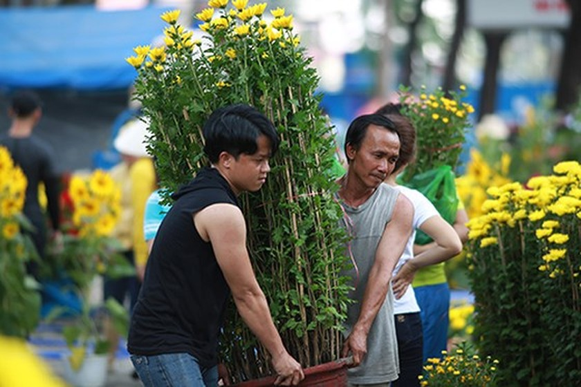 City dwellers flock to buy flowers yesterday ảnh 1