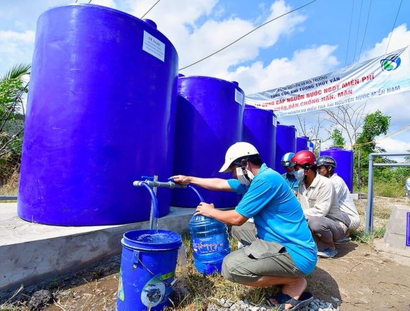 Authorities in Mekong Delta proactively reserve fresh water for dry season ảnh 1