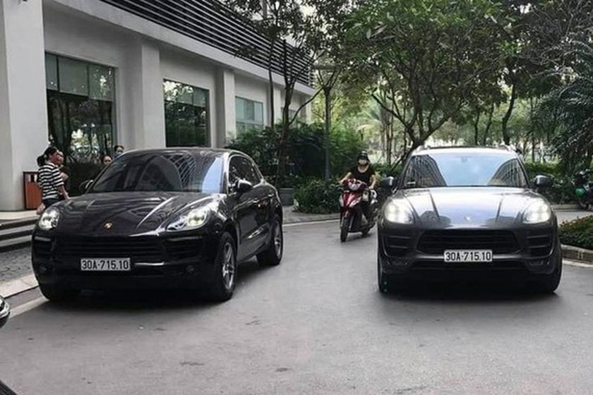 Two different cars spotted with exactly same number plate in Hanoi ảnh 1