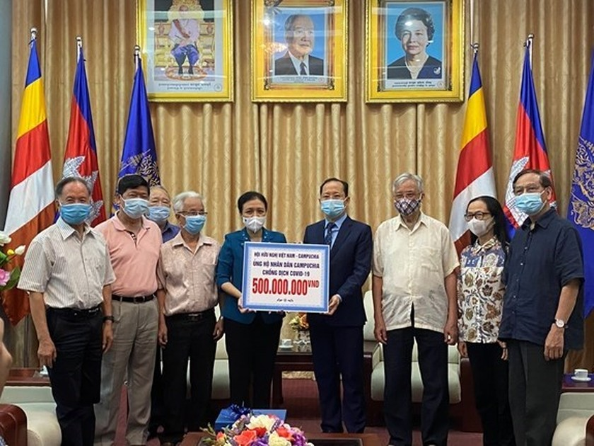 Friendship association provides aid for Cambodia to fight COVID-19 ảnh 1