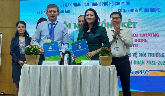 """Green School"" award raise students' awareness of environmental protection ảnh 1"
