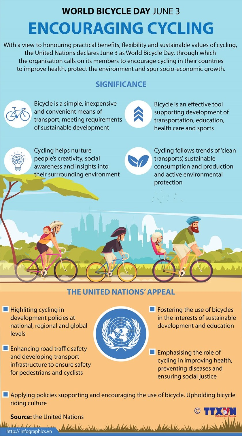 World Bicycle Day encourages cycling ảnh 1
