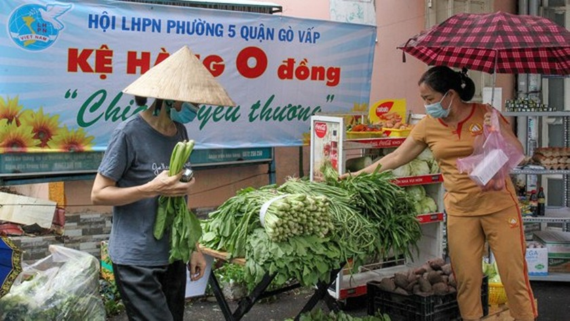Charity trucks bound for HCMC