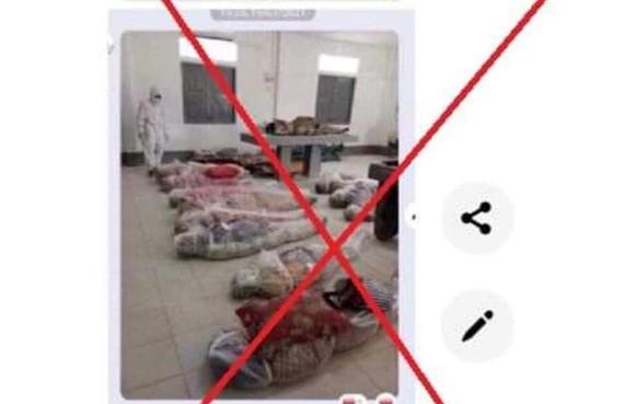 False claim: Photo shows coffins of coronavirus victims in HCMC ảnh 1