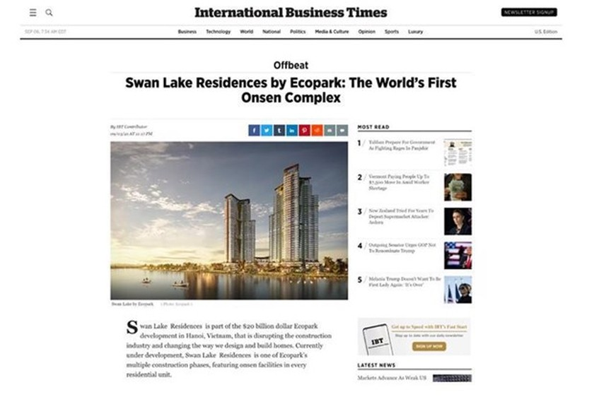 Vietnam's onsen complex touted as world's first in UK, US newspapers ảnh 1