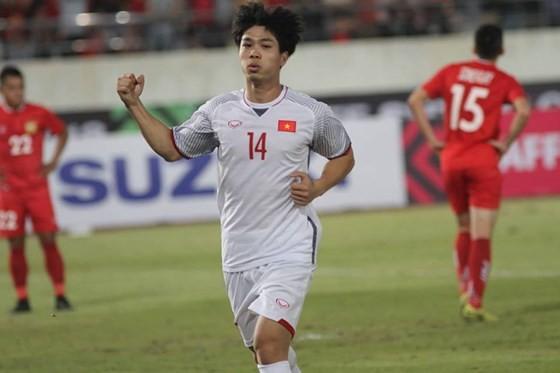 VN defeats Laos 3-0 at 2018 AFF Suzuki Cup ảnh 1