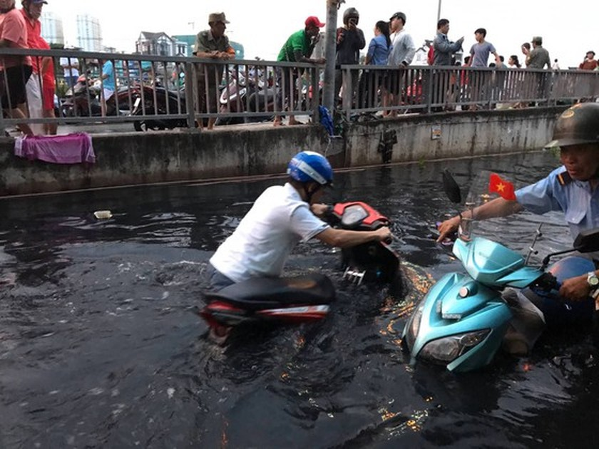Nearly 200 people urgently overcome dike incident in district 8  ảnh 5