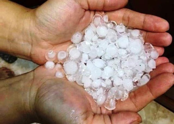 Egg- sized hail hits Northern mountainous provinces ảnh 1