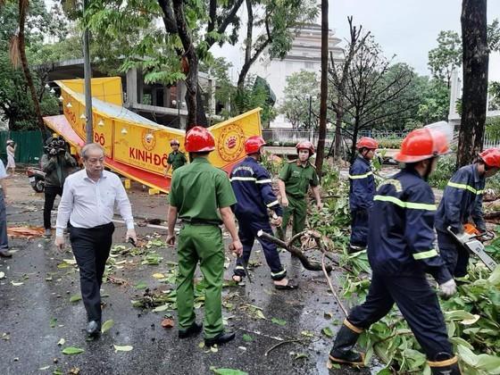 Downpour, storm-force wind rush down Central provinces  ảnh 4