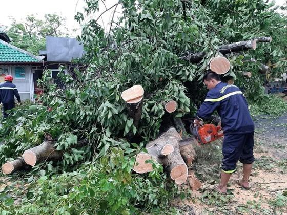 Downpour, storm-force wind rush down Central provinces  ảnh 6