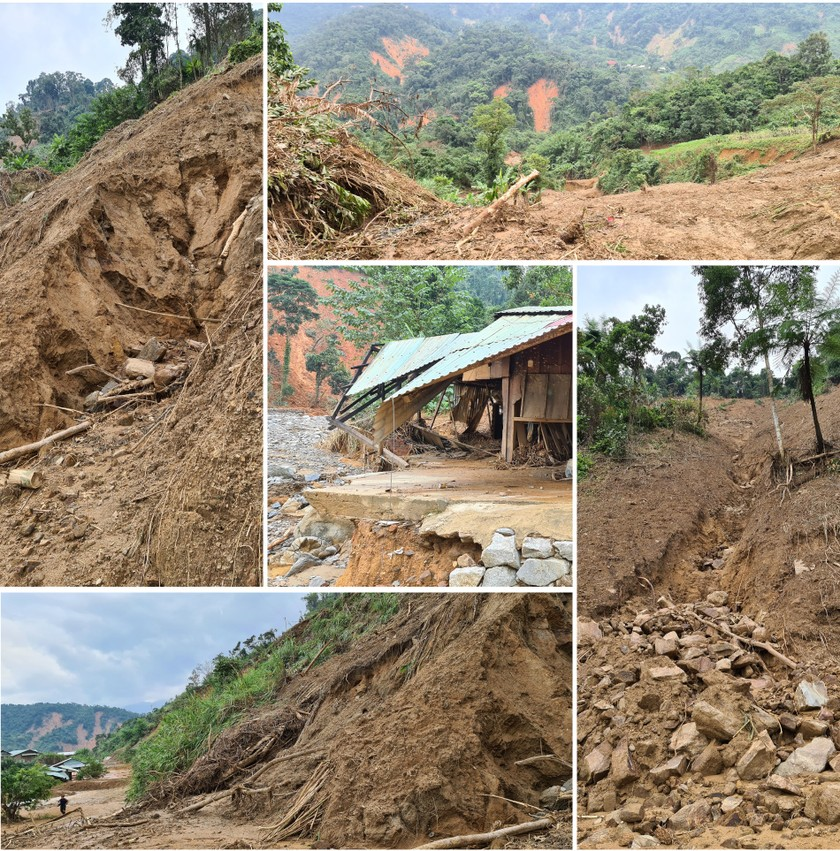 Phuoc Loc Commune chaos after storm, landside, flashflood ảnh 2