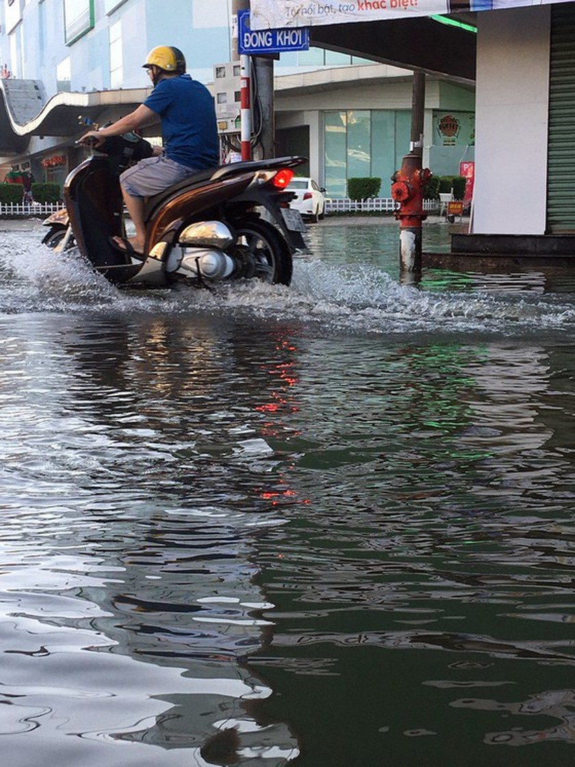 Can Tho city looks like river due to high tide ảnh 1