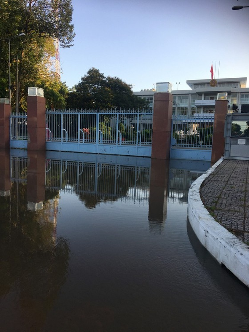 Can Tho city looks like river due to high tide ảnh 2