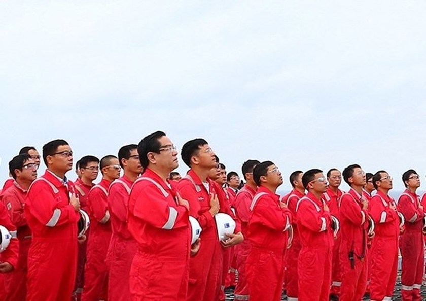 Biendong POC's flag-salute ceremonies set Guinness Vietnam record ảnh 1