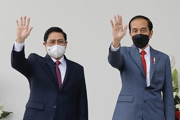 Indonesian President hosts Vietnamese PM in Bogor ảnh 1