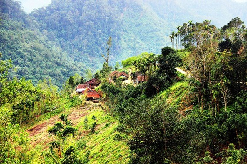 Ethnic minority villages built on mountains in Central Vietnam  ảnh 2