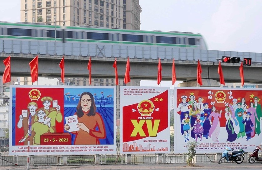 Hanoi welcomes National Assembly election day ảnh 9