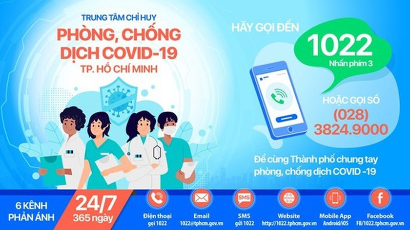 Hotline 1022 ready for welcoming reflections on Covid-19 pandemic  ảnh 1