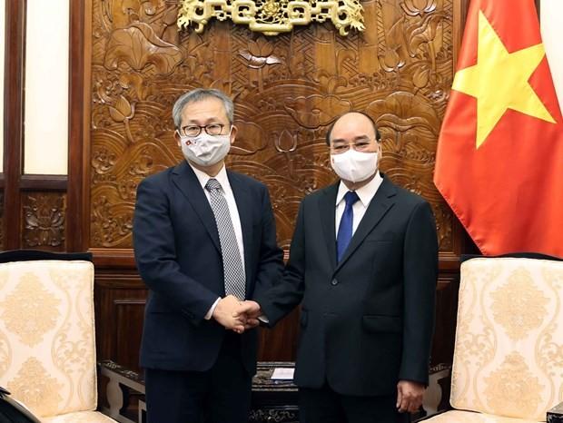 President Nguyen Xuan Phuc receives Japanese Ambassador ảnh 1