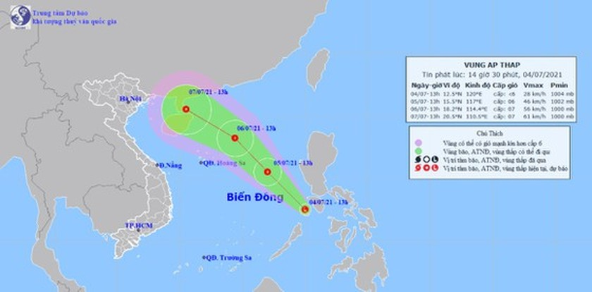 Localities urged to deal with tropical depression in East Sea  ảnh 1