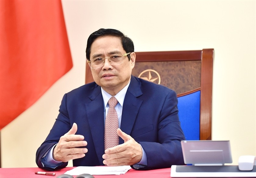 PM Pham Minh Chinh holds phone talks with Indian counterpart ảnh 1