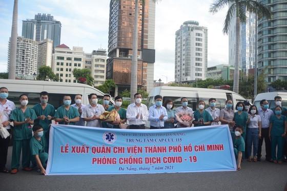 Da Nang 115 Emergency Center sends 15 medical staff to HCMC ảnh 1