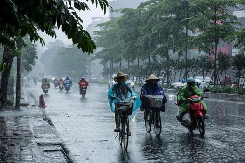 Northern region suffers from tropical depression-induced downpours ảnh 1