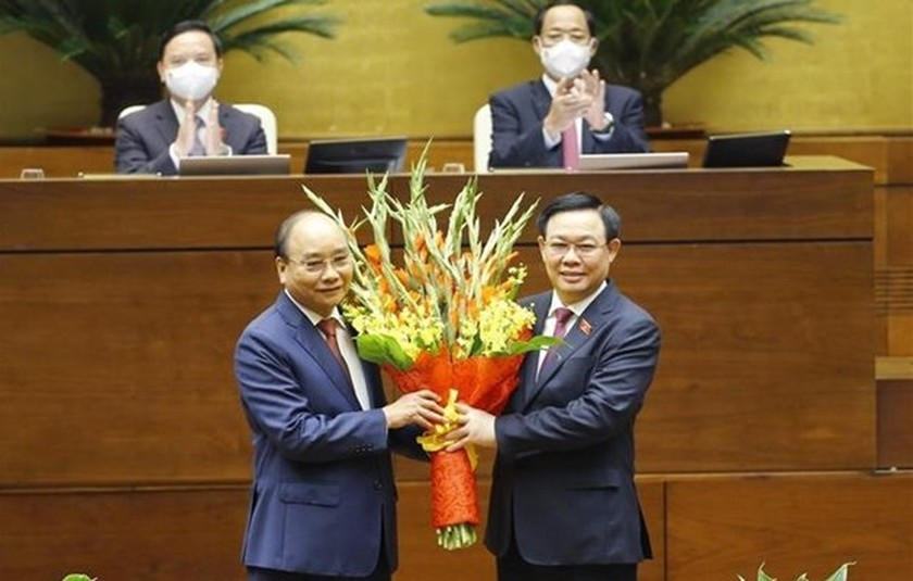 Nguyen Xuan Phuc elected as State President for 2021-2026 ảnh 1