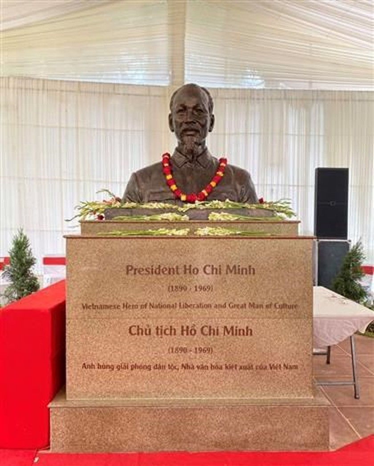 President Ho Chi Minh bust erected in New Delhi ảnh 2