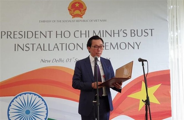President Ho Chi Minh bust erected in New Delhi ảnh 1
