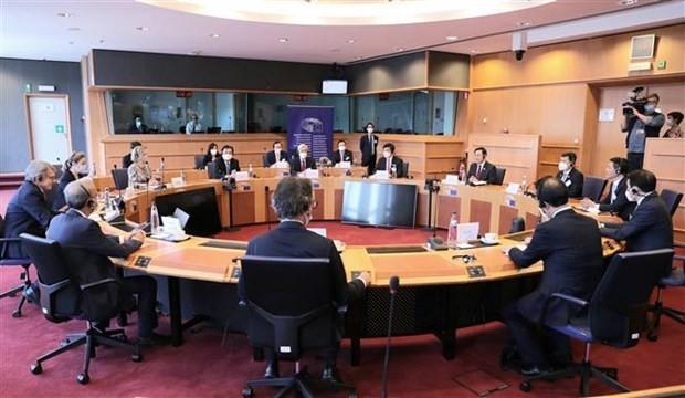Top leaders of Vietnamese, European parliaments hold talks ảnh 2