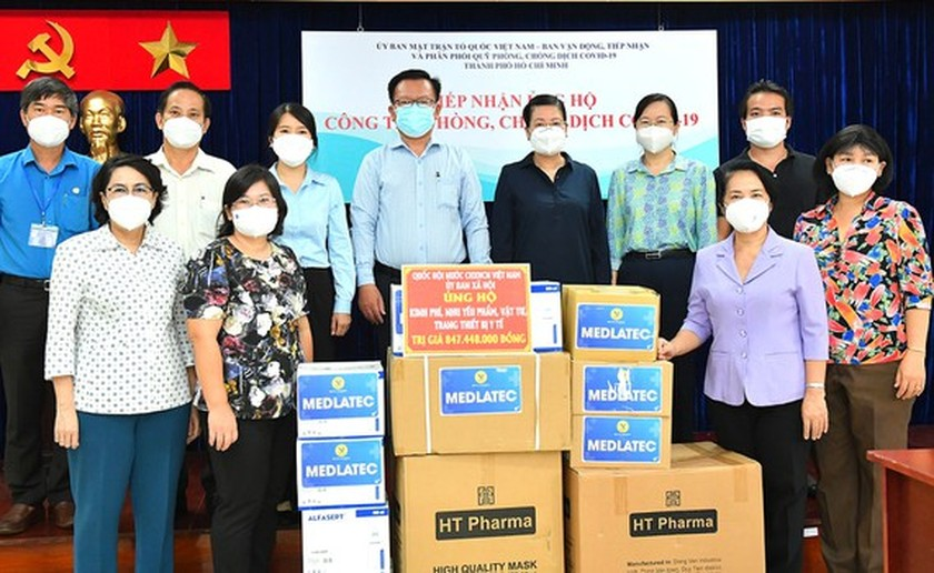 NA Committee gives Covid-19 support package worth VND848 mln to HCMC ảnh 1