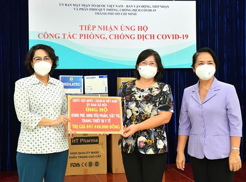NA Committee gives Covid-19 support package worth VND848 mln to HCMC ảnh 2