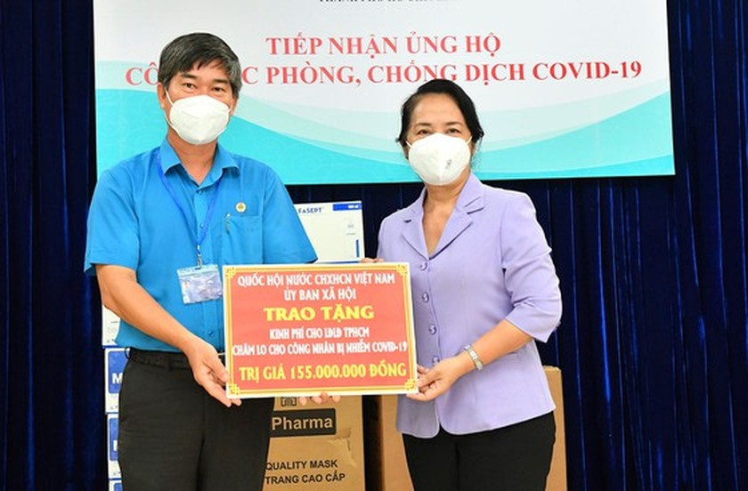 NA Committee gives Covid-19 support package worth VND848 mln to HCMC ảnh 3