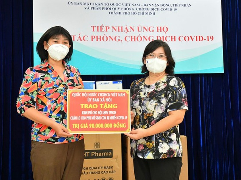 NA Committee gives Covid-19 support package worth VND848 mln to HCMC ảnh 4