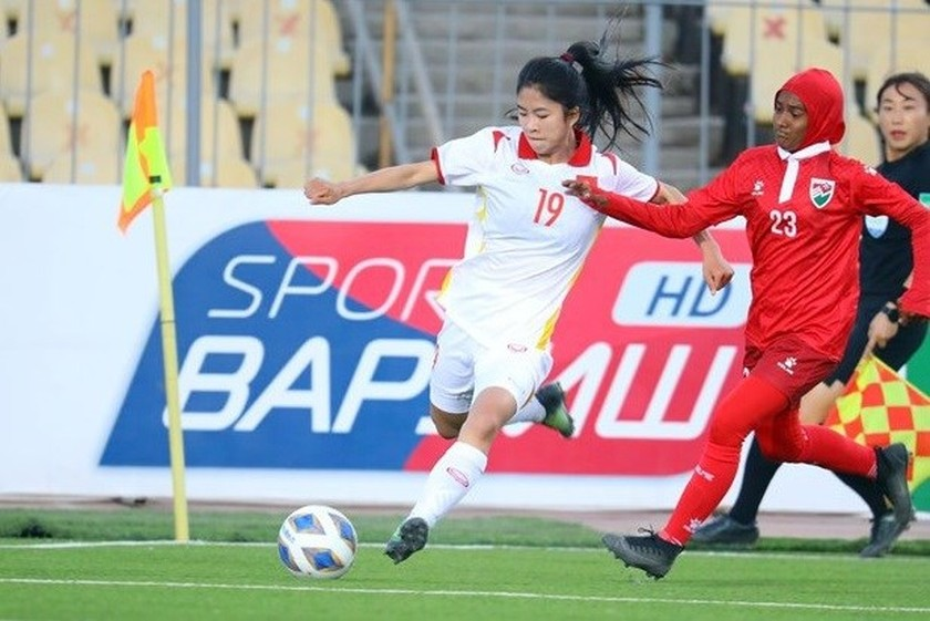 Vietnam thrashes Maldives 16-0 at AFC Women's Asian Cup qualifiers ảnh 1