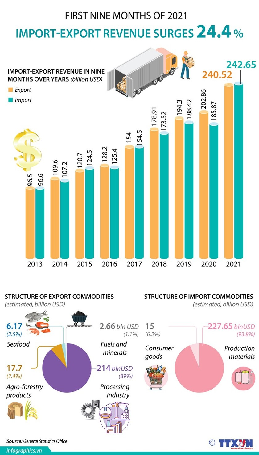 Import-export turnover up over 24 percent ảnh 1