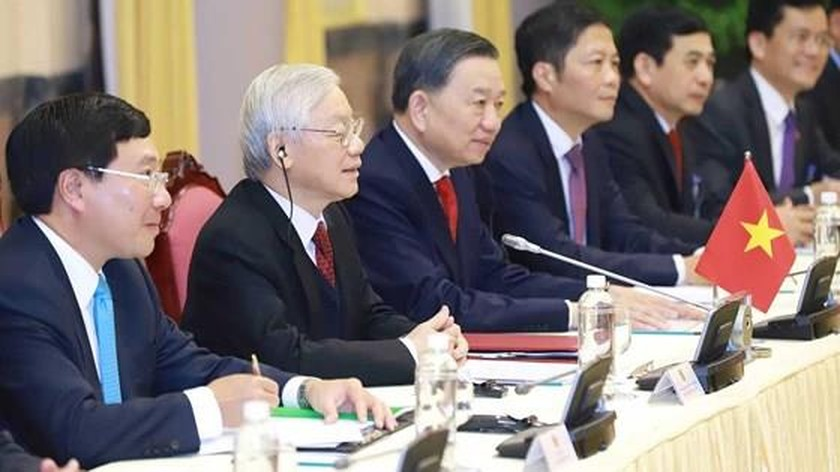 Top Vietnamese leader holds talks with US President ảnh 3