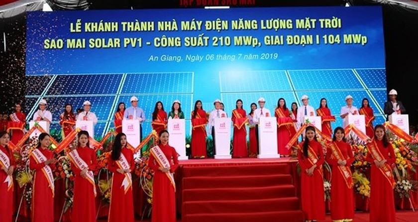 One more solar power plant inaugurated in An Giang province ảnh 1
