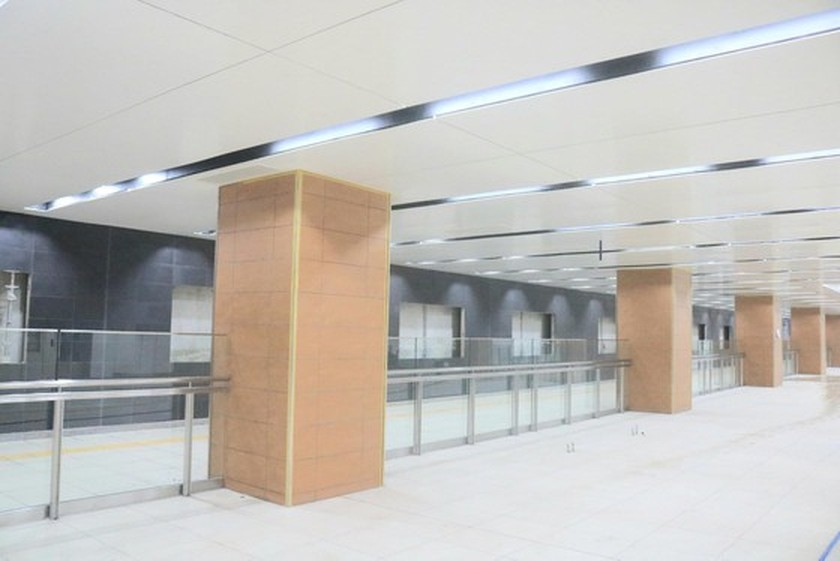 B1 basement of Opera House metro station built 140 days before schedule ảnh 1