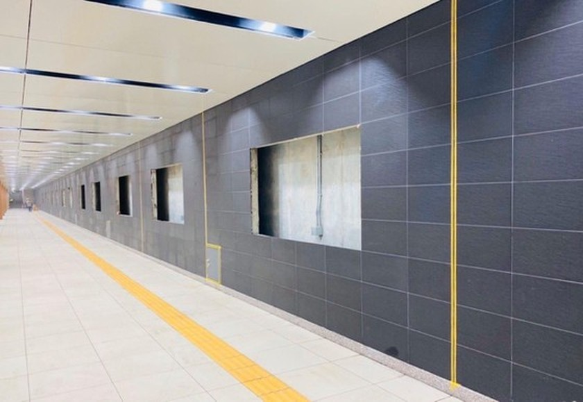 B1 basement of Opera House metro station built 140 days before schedule ảnh 2