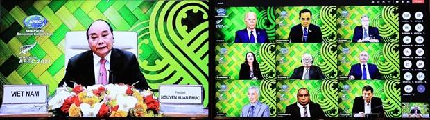 Remarks by President Nguyen Xuan Phuc at APEC Informal Leaders Retreat ảnh 1
