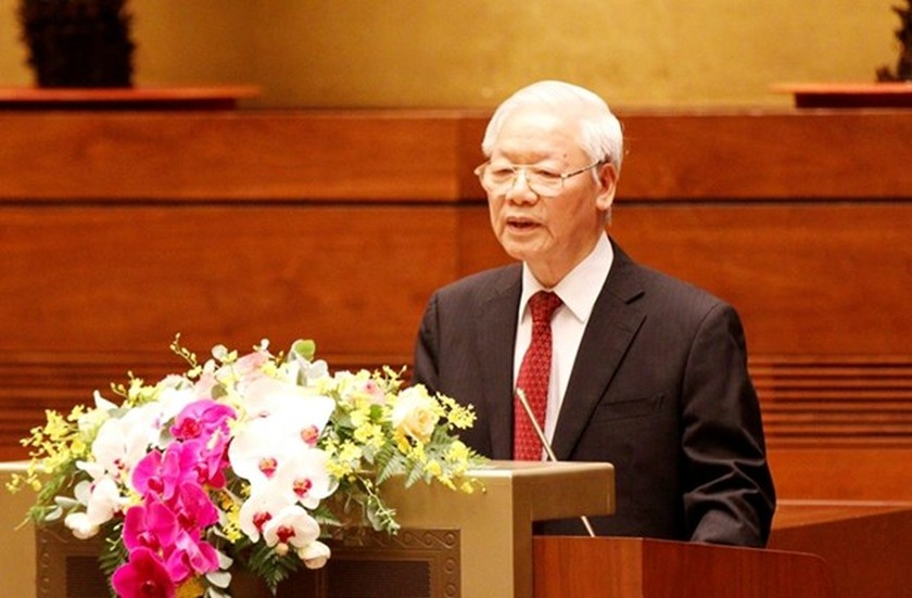 Speech of Party leader Nguyen Phu Trong at conference reviewing 12th Politburo's Directive 05 ảnh 1