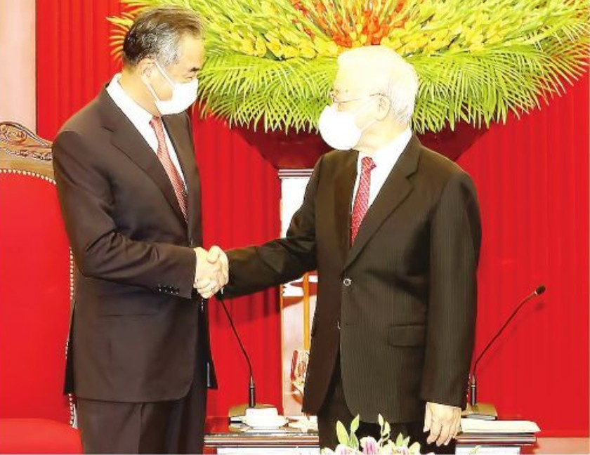 Party chief hosts reception for Chinese Foreign Minister ảnh 1