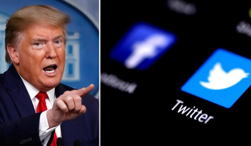 """Các nền tảng xã hội lớn tiếp tục ngăn """"cuộc chơi"""" của ông Donald Trump. (Ảnh: The Week)"""
