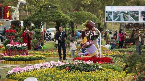 Int'l bonsai & flower exhibition opens in Dalat ảnh 1